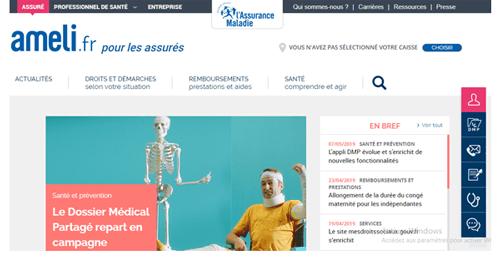 www.ameli.fr créer un compte