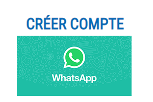Inscription sur whatsapp