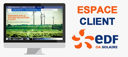 Espace client EDF oa solaire
