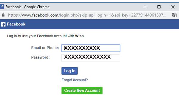 Ouvrir un compte wish