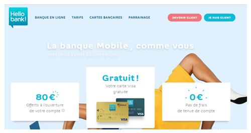 Création compte hello bank en ligne