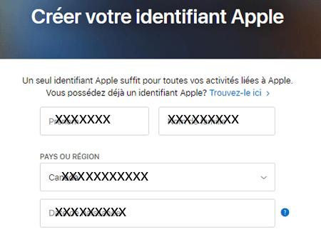 Comment créer un compte Apple