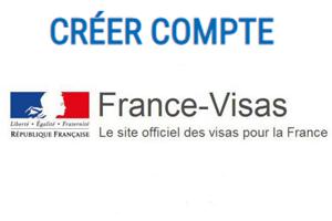 France-visas créer mon compte