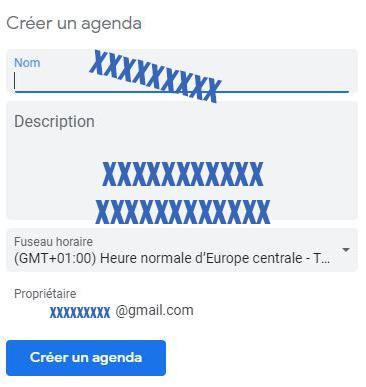 etapes creation google calendar