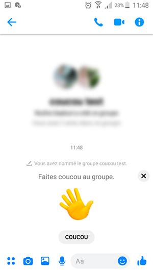 groupe messenger smartphone