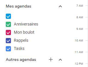liste mes agendas