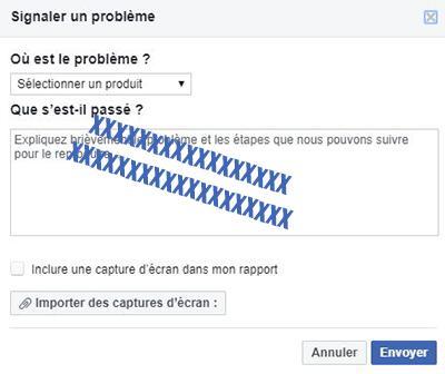 signaler probleme facebook messenger
