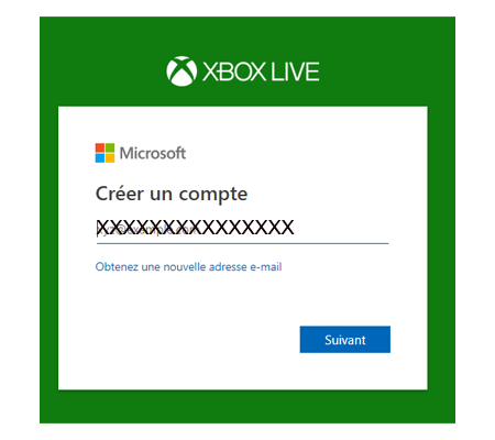 Créer votre profil xbox live