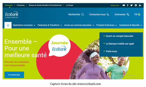 Consulter le site ecobank.com