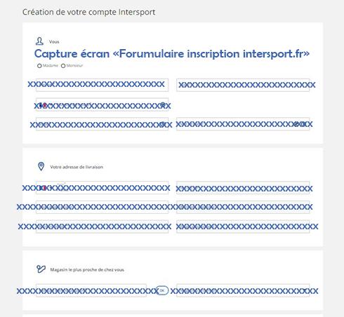 formulaire inscription espace client intersport