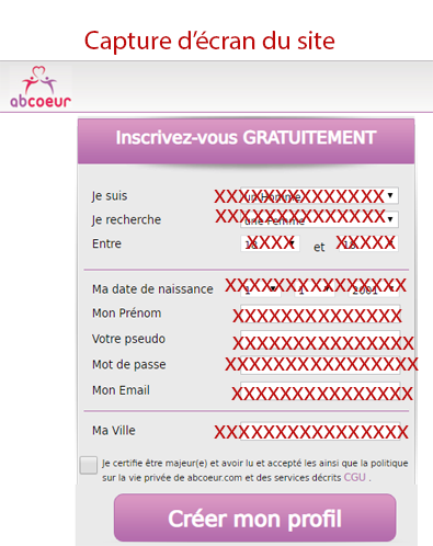 Inscription abcoeur.com
