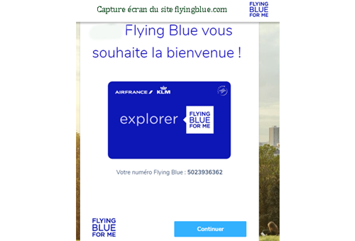 Ouvrir un compte Flying Blue
