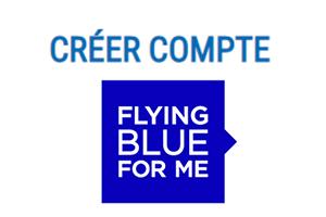 Créer compte Flying Blue