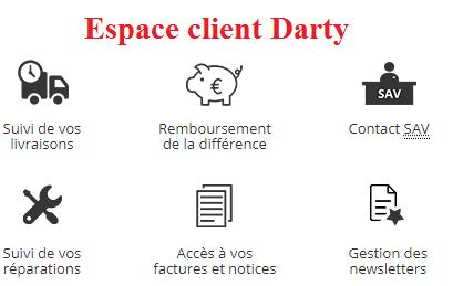 darty espace client suivi de commandes