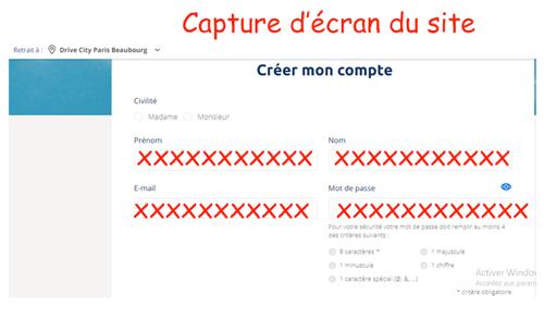Créer un compte Carrefour
