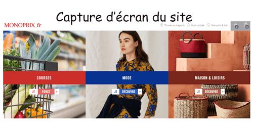 Accéder au site monoprix.fr