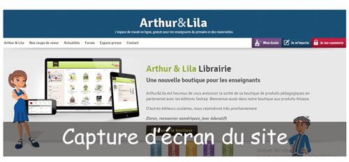 S'inscrire sur arthur-et-lila.com