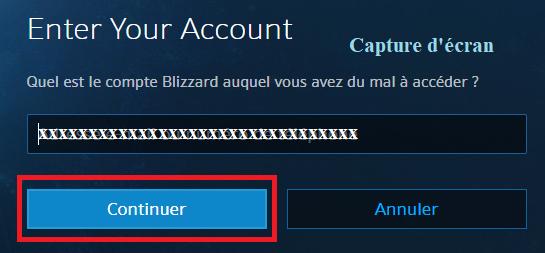 récupérer mot de passe Blizzard