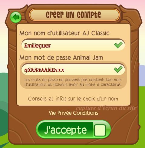 Animal Jam création compte