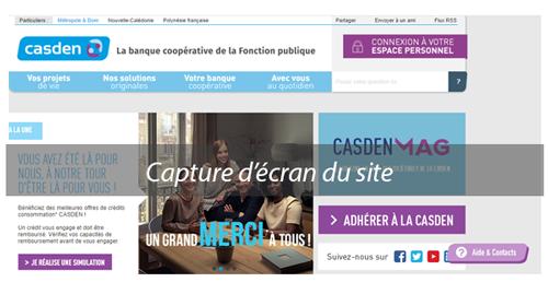 Créer un compte casden.fr