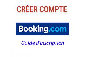 Créer un compte booking