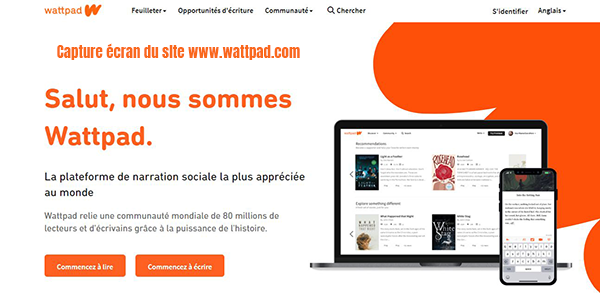 wattpad repertoire en ligne