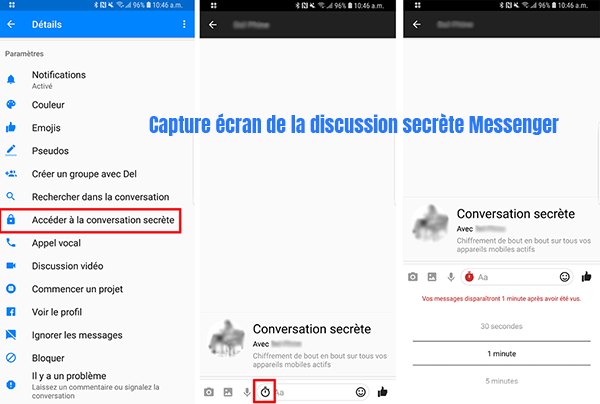 messenger facebook conversation secrete