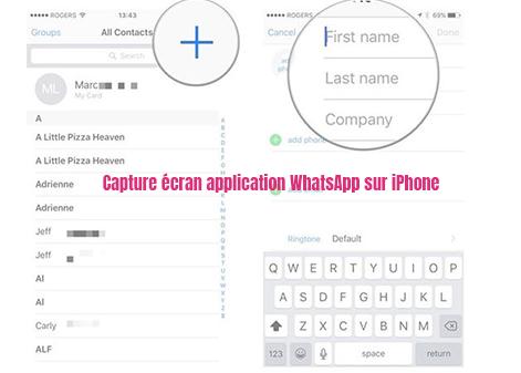 ajouter contact sur iphone