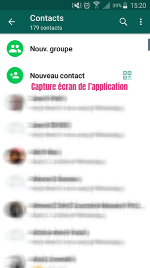 ajouter contact whatsapp samsung