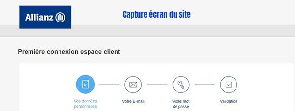 creation compte client allianz particulier