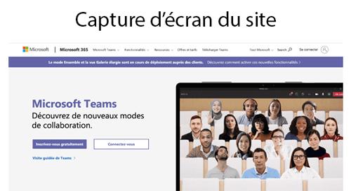 Se rendre sur le site Microsoft teams