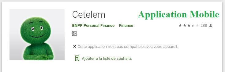 application mobile Cetelem
