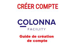 Créer un compte colonna facility entreprise sur www.cofacility.fr