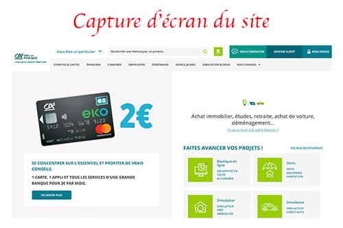 Se rendre sur le site www.ca-valdefrance.fr