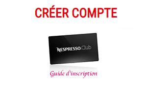 Créer un compte club nespresso