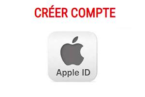 création d'un identifiant Apple