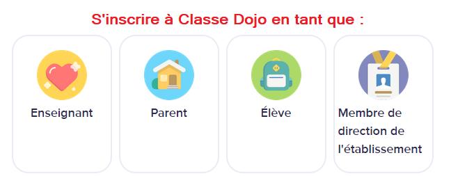 inscription classe dojo