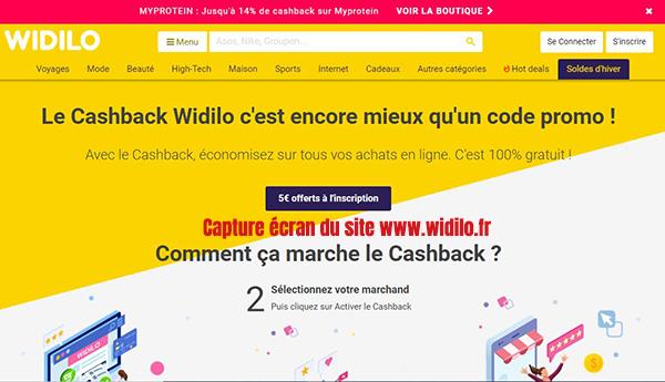 widilo cashback france