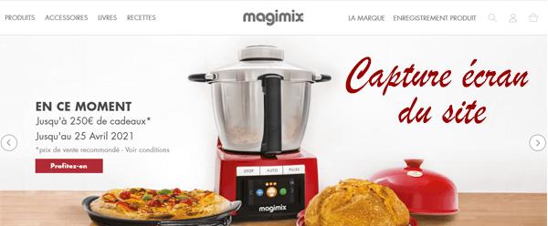 Procédure de création d'un espace client Magimix.