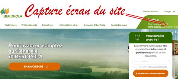 Comment s'inscrire et créer mon compte sur le site iberdrola.fr?