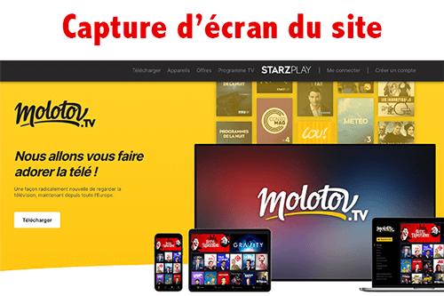 Créer un compte molotov Tv