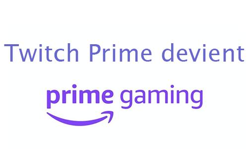 Le site de treaming illimité devient Prime gaming