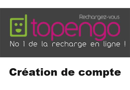 Créer un compte topengo