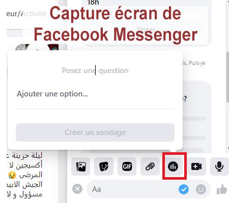 Activer et créer un sondage Facebook Messenger sur PC