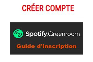 Application Greenroom spotify