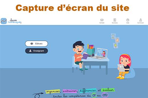 S'inscrire sur classe-numrique.fr