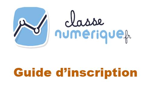 Créer un compte classe numérique