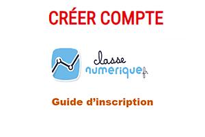 Inscription sur classe-numerique.fr