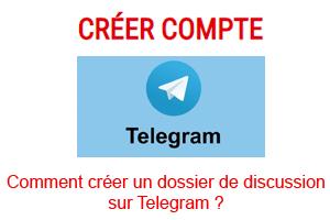 créer un dossier de discussion sur Telegram